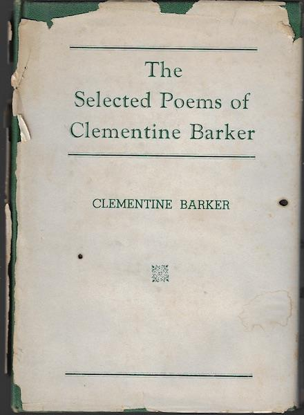 Image for The Selected Poems of Clementine Barker SIGNED