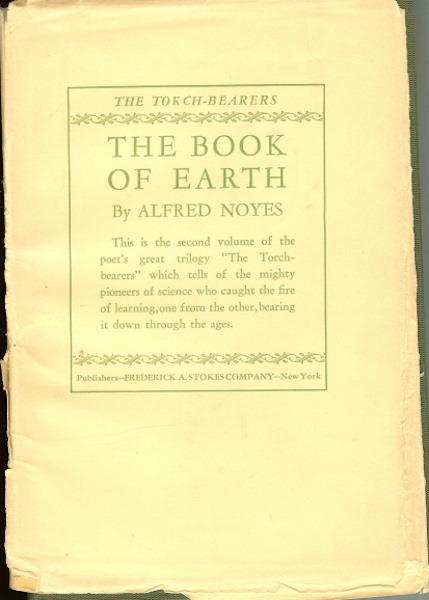 Image for The Book of Earth Alfred Noyes 1925 Signed [Hardcover] by Noyes, Alfred