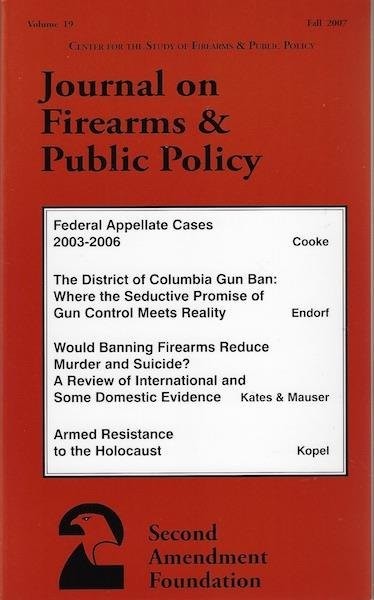 Image for Journal on Firearms & Public Policy Fall 2007 (Volume 19)