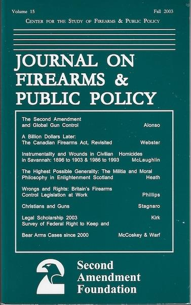 Image for Journal on Firearms & Public Policy (Volume 15 Fall 2003)