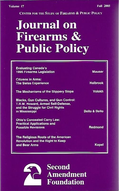 Image for Journal on Firearms & Public Policy Volume 17 Fall 2005
