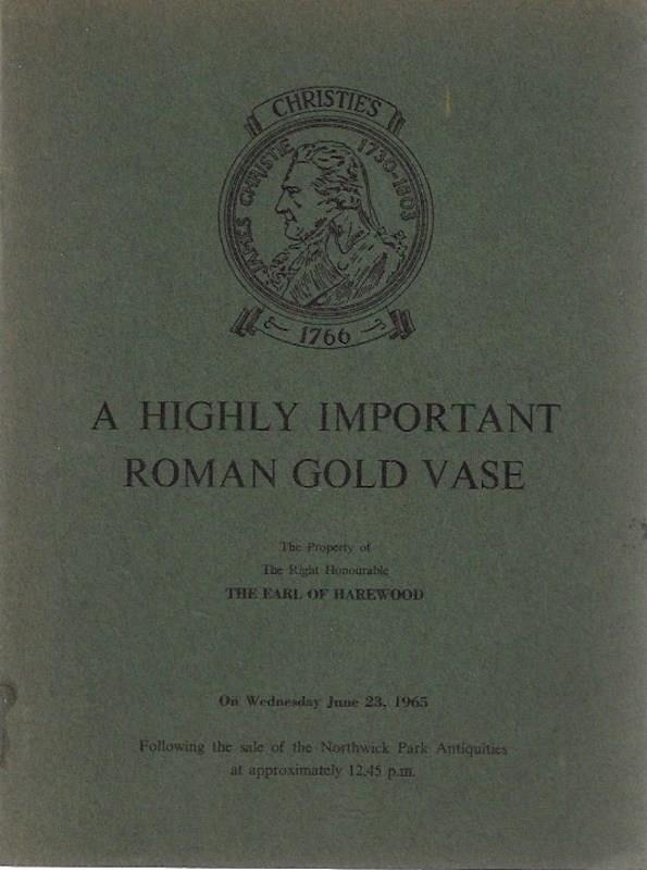 Image for A Highly Important Roman Gold Vase