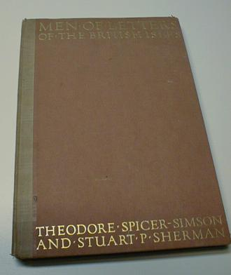 Image for Men of Letters of the British Isles Numbered First Ed [Hardcover] by Hill, G. F.