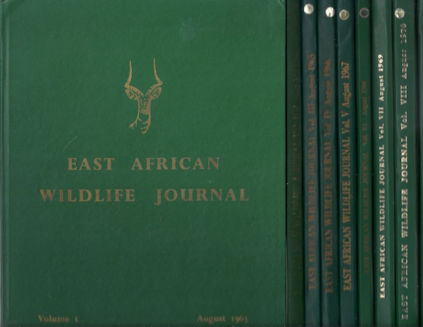 Image for East African Wildlife Journal (9 volumes)