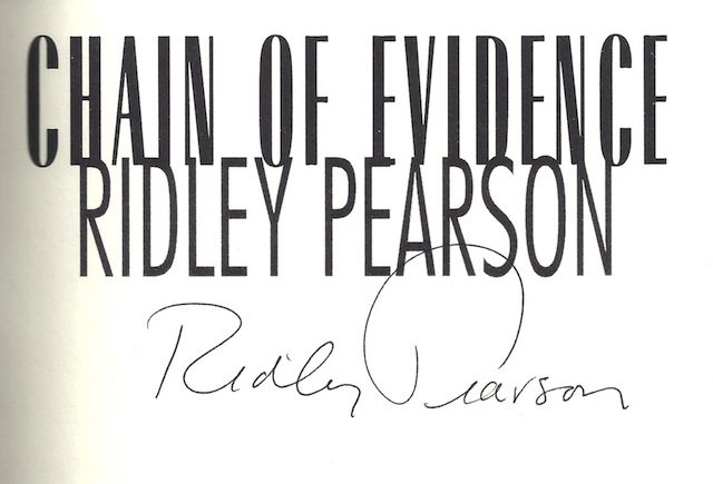 Image for Chain of Evidence by Pearson, Ridley