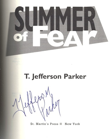 Image for Summer of Fear by Parker, T. Jefferson SIGNED