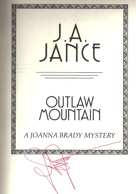 Image for Outlaw Mountain (Joanna Brady Mysteries, Book 7) by Jance, J.A.