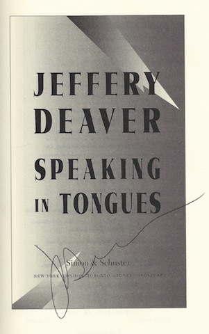 Image for Speaking In Tongues : A Novel by Deaver, Jeffery; Deaver, Jeffrey