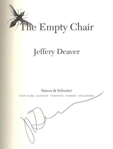 Image for The Empty Chair [Hardcover] by Jeffery Deaver