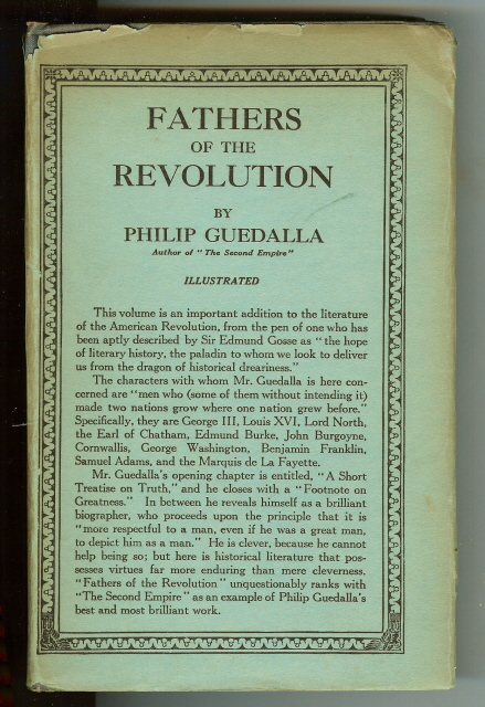 Image for Fathers of the Revolution Philip Guedalla Illustrated [Hardcover]