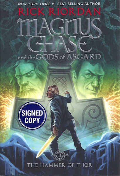 Image for Magnus Chase and the Gods of Asgard, Book 2 The Hammer of Thor (Signed Edition)