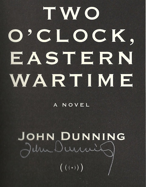 Image for Two O'Clock, Eastern Wartime: A Novel by Dunning, John