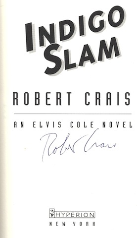 Image for Indigo Slam: An Elvis Cole Novel SIGNED