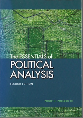 Image for The Essentials Of Political Analysis [Paperback] by Philip H. Pollock III