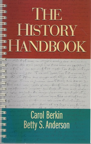 Image for The History Handbook (Student Text) [Spiral-bound] by Berkin, Carol