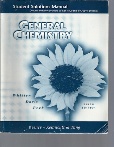 Image for General Chemistry Student Solution Manual [Paperback] by WHITTEN