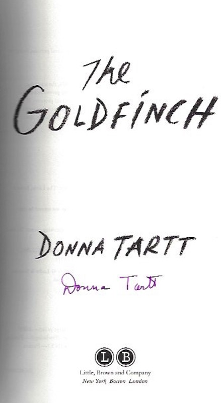 Image for The Goldfinch: A Novel (Pulitzer Prize for Fiction) SIGNED LTD