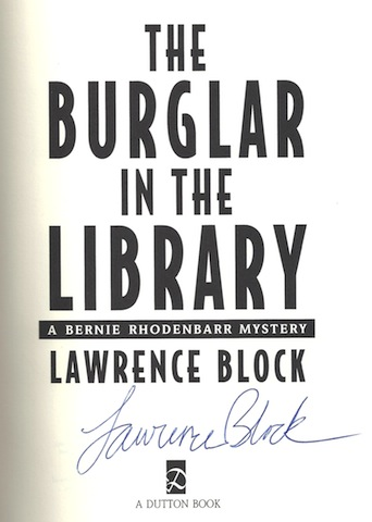Image for The Burglar in the Library SIGNED A Bernie Rhodenbarr Mystery