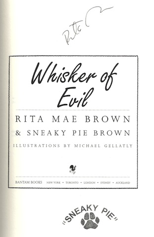 Image for Whisker of Evil (Brown, Rita Mae)
