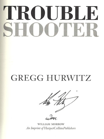 Image for Troubleshooter: A Novel (Tim Rackley Novels) [Hardcover] by Hurwitz, Gregg