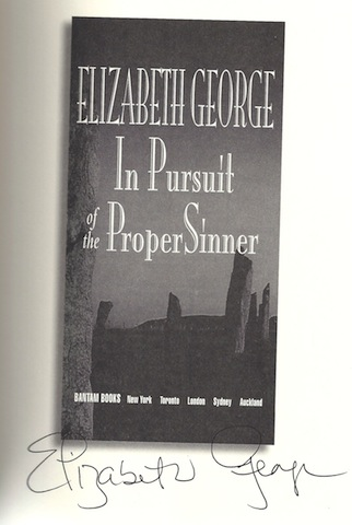 Image for In Pursuit of the Proper Sinner by George, Elizabeth