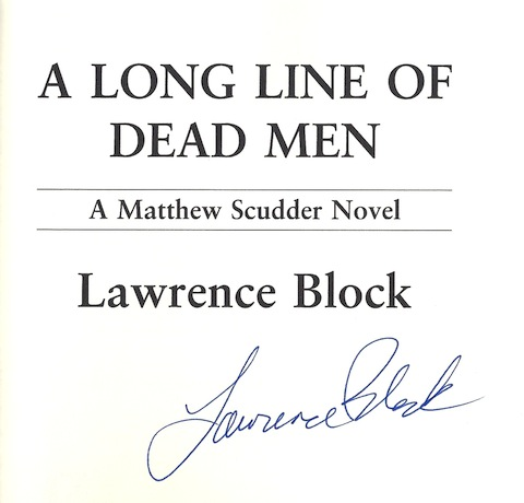 Image for A Long Line of Dead Men (Matthew Scudder Mysteries) SIGNED