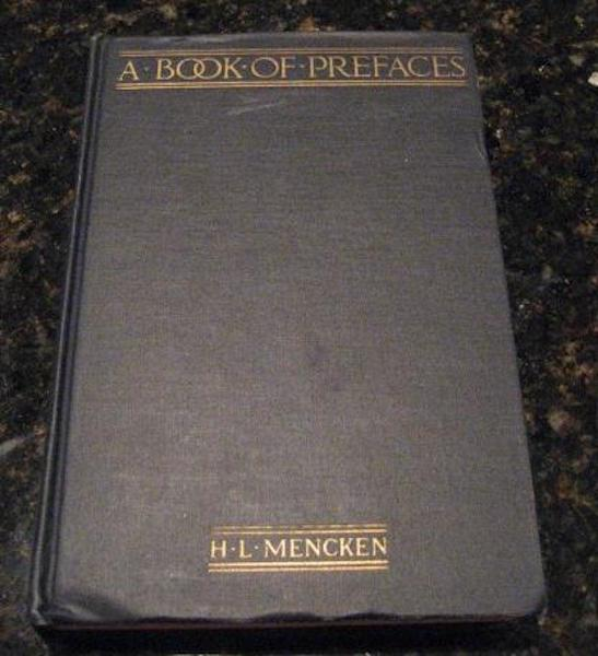 Image for A Book of Prefaces: Essays on Conrad, Dreiser, Huneker, Puritanism [Hardcover]