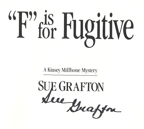 "Image for ""F"" is for Fugitive (Kinsey Millhone Mysteries)"