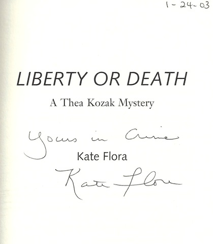 Image for Liberty or Death: A Thea Kozak Mystery